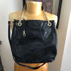 MICHAEL KORS Handbag Patent Croc Leather EUC